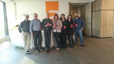 ver.di im ZDF besuchte und beschenkte die Kolleginnen und Kollegen, die während der Feiertage Dienst taten.